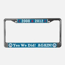 Obama Yes We Did AGAIN License Plate Frame