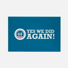 Obama Yes We Did AGAIN Rectangle Magnet