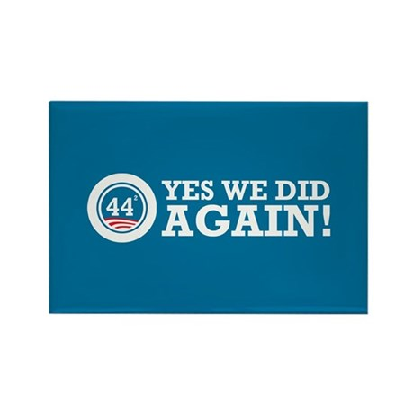 Obama Yes We Did AGAIN Rectangle Magnet (10 pack)