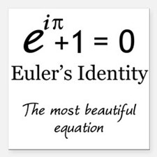 "Beautiful Eulers Identity Square Car Magnet 3"" x 3"