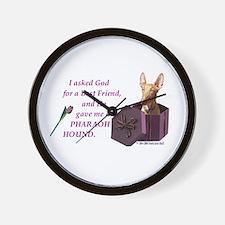 Pharaoh Hound Wall Clock