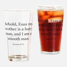 Genesis 27:11 Drinking Glass