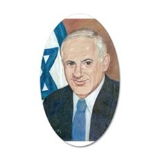 Bibi Netanyahu 20x12 Oval Wall Decal