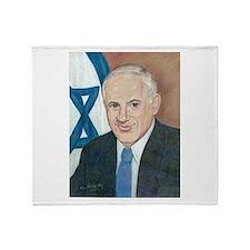 Bibi Netanyahu Throw Blanket