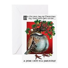 Pear Tree in a Partridge Christmas cards (Pk 10)