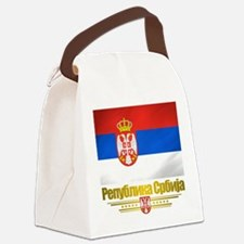Serbia (Flag 10).png Canvas Lunch Bag