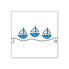 "Sailboats Square Sticker 3"" x 3"""