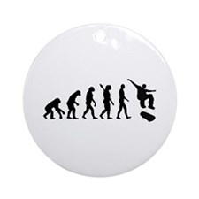 Evolution Skateboarding Ornament (Round)