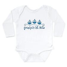 Grandpas 1st Mate Long Sleeve Infant Bodysuit