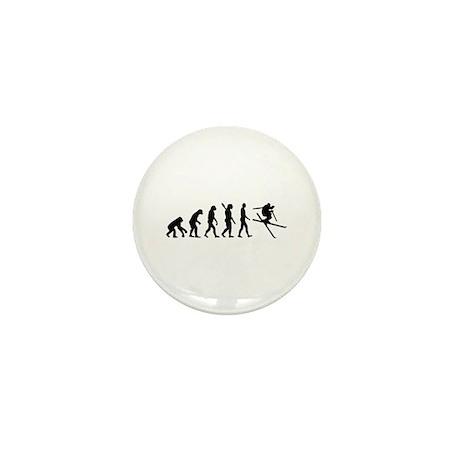 Evolution Ski Mini Button