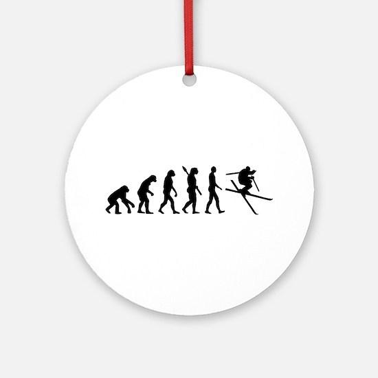 Evolution Ski Ornament (Round)