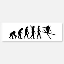 Evolution Ski Bumper Bumper Sticker