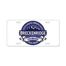 Breckenridge Midnight Aluminum License Plate