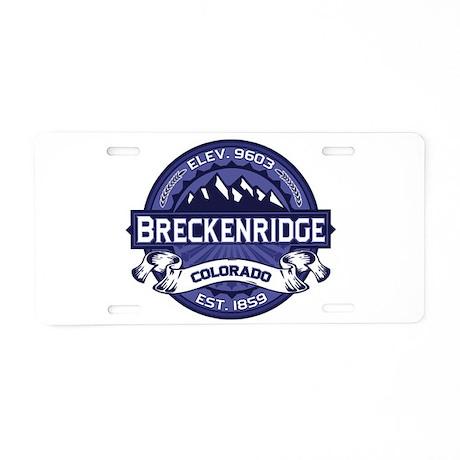 Breckenridge Midnight Aluminum License Plate