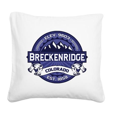 Breckenridge Midnight Square Canvas Pillow