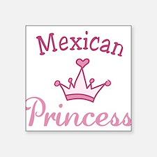 """Mexican Princess Square Sticker 3"""" x 3"""""""