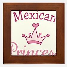 Mexican Princess Framed Tile
