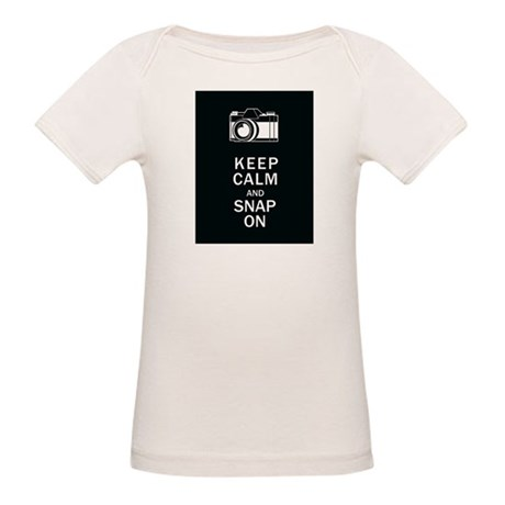 Keep Calm And Snap On Organic Baby T-Shirt