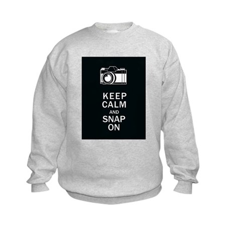 Keep Calm And Snap On Kids Sweatshirt