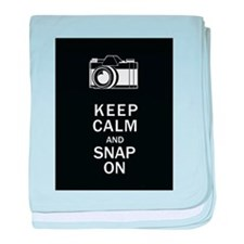 Keep Calm And Snap On baby blanket