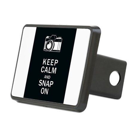Keep Calm And Snap On Rectangular Hitch Cover