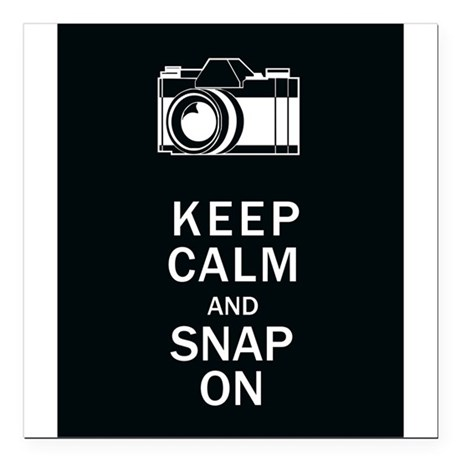 "Keep Calm And Snap On Square Car Magnet 3"" x 3"""