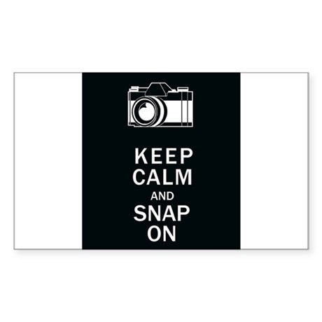 Keep Calm And Snap On Sticker (Rectangle)