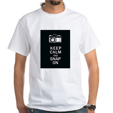 Keep Calm And Snap On White T-Shirt