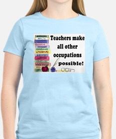 """Teacher Occupations"" Ash Grey T-Shirt T"