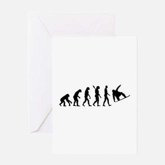 Evolution Snowboard Greeting Card