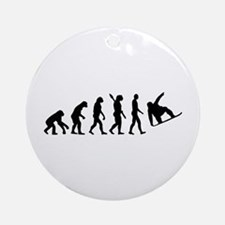 Evolution Snowboard Ornament (Round)