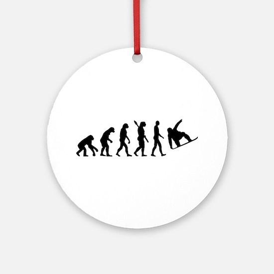 Evolution Snowboard Ornament (Round)