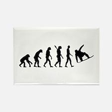 Evolution Snowboard Rectangle Magnet