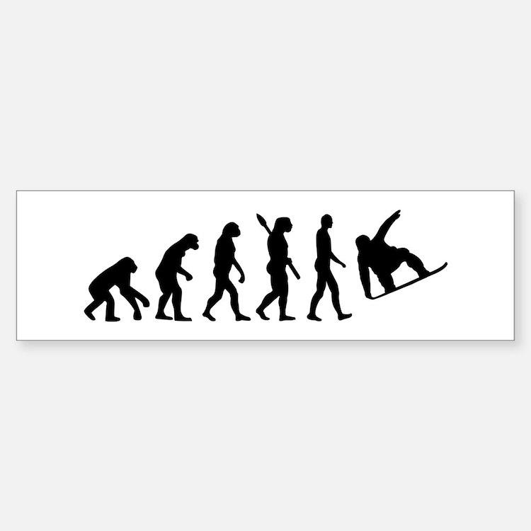 Evolution Snowboard Bumper Bumper Sticker