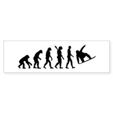Evolution Snowboard Bumper Sticker