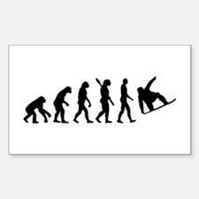 Evolution Snowboard Sticker (Rectangle)