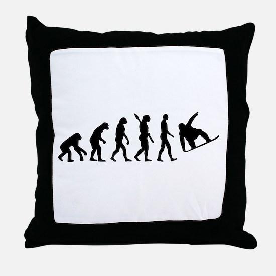 Evolution Snowboard Throw Pillow