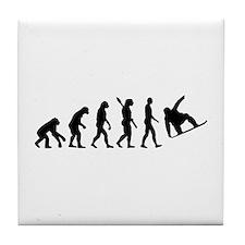 Evolution Snowboard Tile Coaster