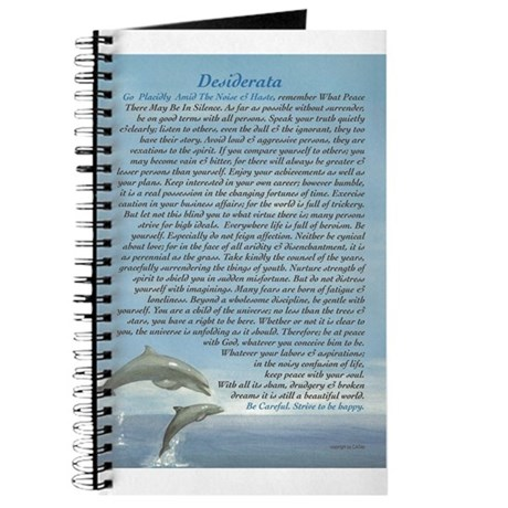 DESIDERATA Careful Dolphins Journal