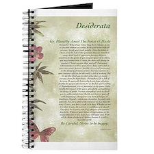 DESIDERATA Careful Bamboo Butterflies Journal