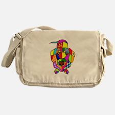 Pretty Colored Doxie Messenger Bag