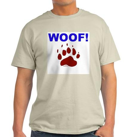 WOOF! Ash Grey T-Shirt