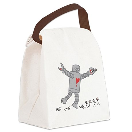 Robot Love Canvas Lunch Bag