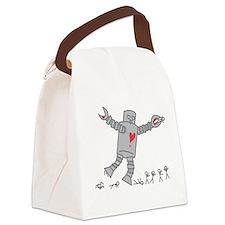 Robot Love Canvas Lunch Bag