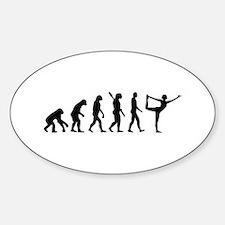 Evolution Yoga Sticker (Oval)