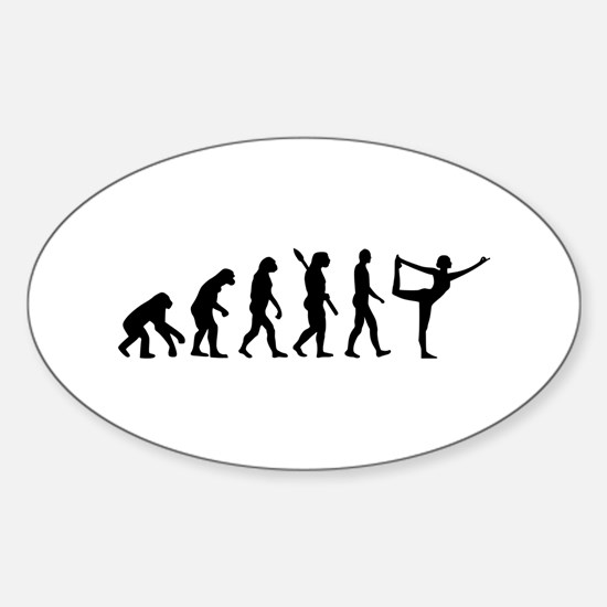 Evolution Yoga Sticker (Oval)