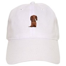 Painted Long Haired Red Baseball Cap