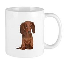 Painted Long Haired Red Mug
