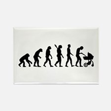 Evolution Baby parents Rectangle Magnet