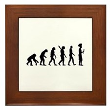 Evolution cook chef Framed Tile